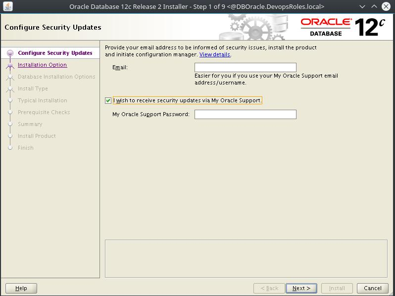 Install Oracle Database 12c on Centos 7_2