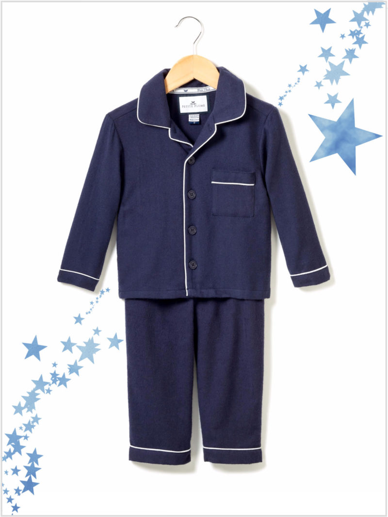 frederickandsophie-kids-lifestyle-petiteplume-classic-navy-flannel-pajama-