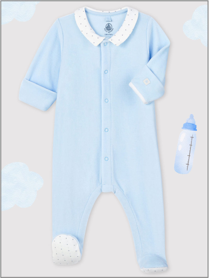 frederickandsophie-kids-soft-wear-petitbateau-france-newborn-baby-all-in-one-pajama-organic-blue