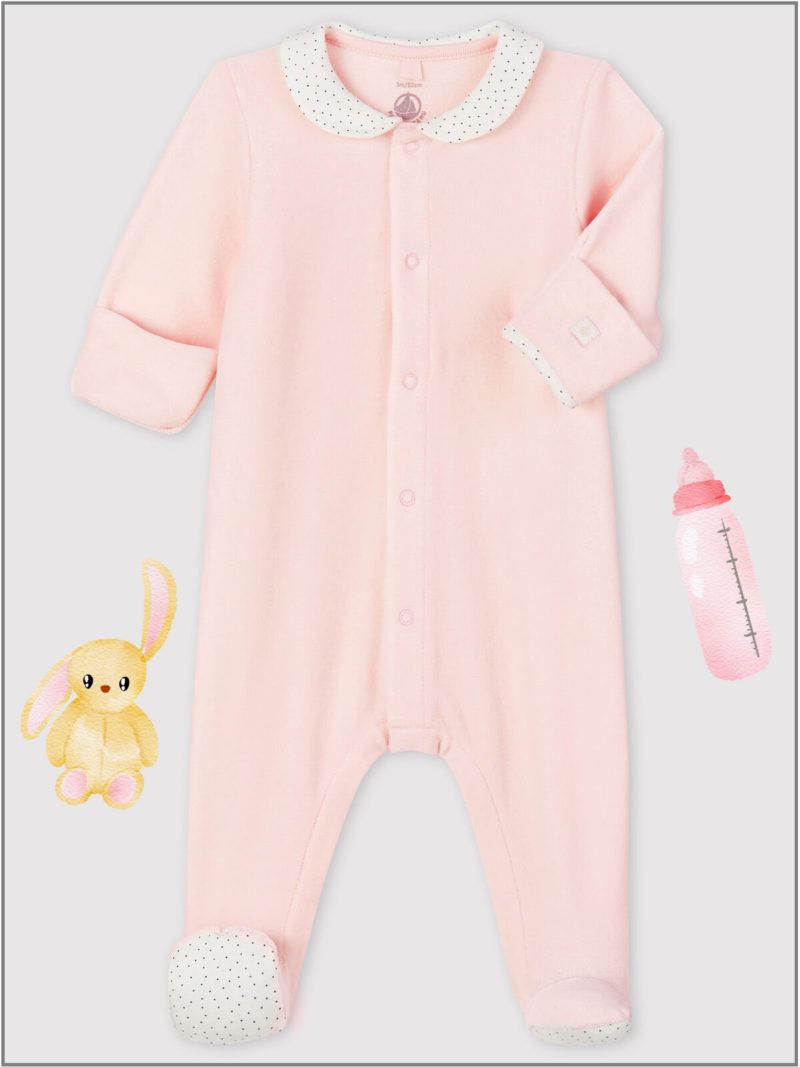 frederickandsophie-kids-soft-wear-petitbateau-france-newborn-baby-all-in-one-pajama-organic-pink