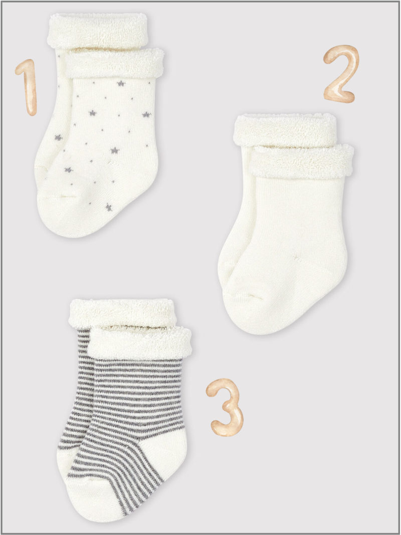 frederickandsophie-kids-soft-wear-petitbateau-france-newborn-baby-socks-organic-stars-stripes