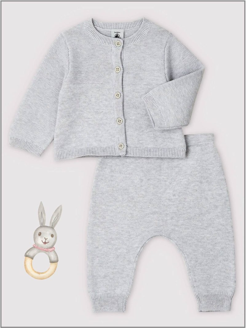 frederickandsophie-kids-soft-wear-petitbateau-france-newborn-baby-cardigan-bottom-set-organic-cotton