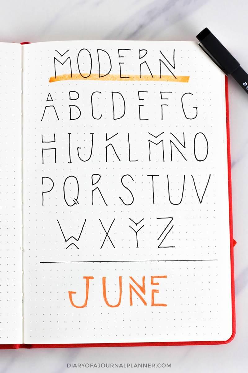 Modern bujo font