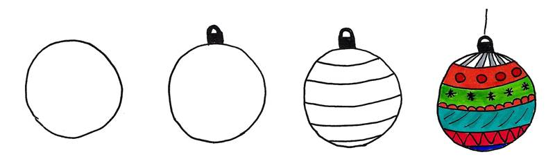 doodle christmas ornaments