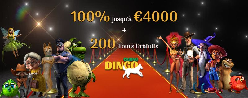 DIngo Casino Bonus de Bienvenue