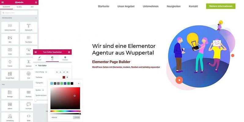 WordPress: Elementor Design Agentur