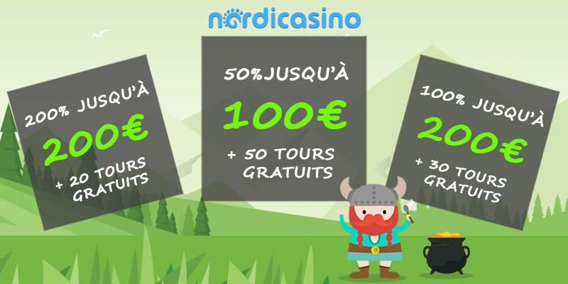 Bonus et de promotions à NordiCasino