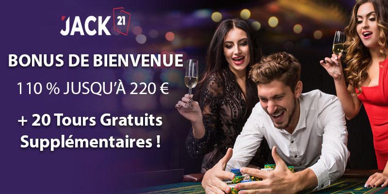 Jack21 Casino Bonus