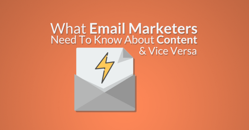 what email marketers need to know about content