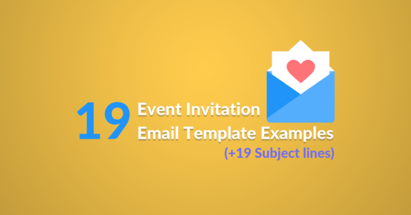 19 Event Invitation Email Template Examples featured image