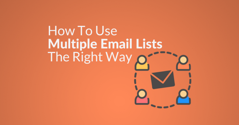 use multiple email lists