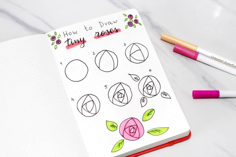 simple rose doodle
