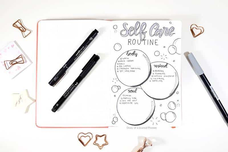 Self care journal ideas