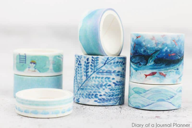 Sky and sea washi tape