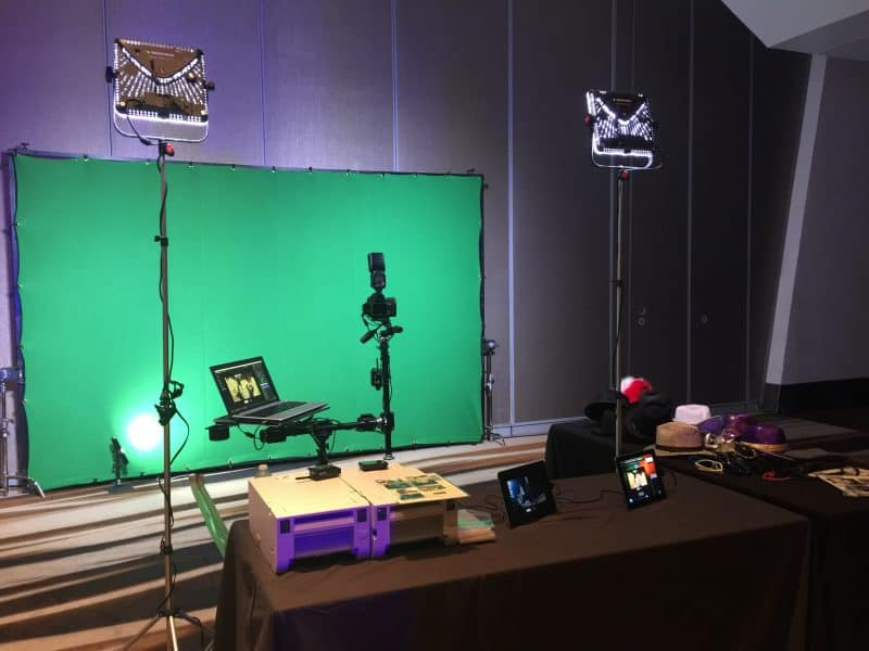 A Dallas green screen photo booth for AT&T and HBO at the Gaylord Texan