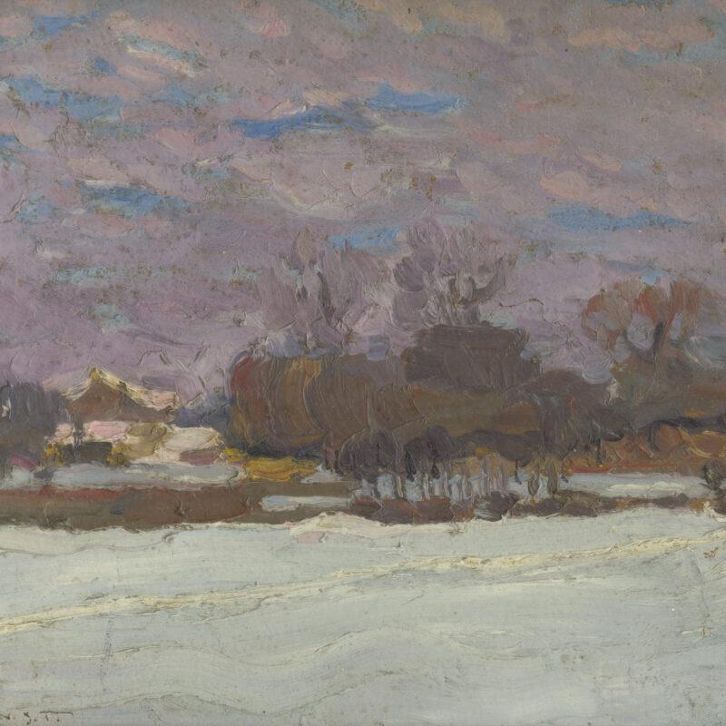Jozef Theodor Mousson, Umelcova záhrada v zime, po 1930, VSG