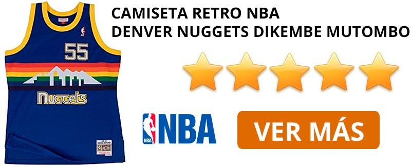 Comprar camiseta retro NBA Denver Nuggets de Dikembe Mutombo