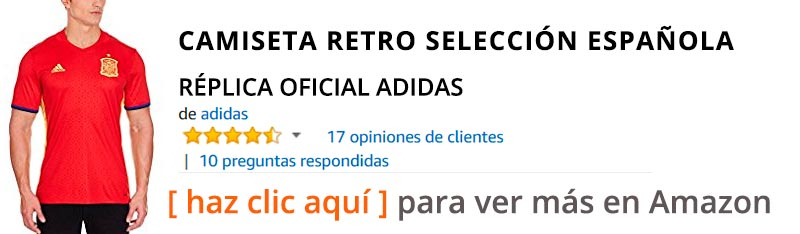 Camisetas de fútbol retro en Amazon