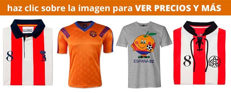 Camisetas de Fútbol Réplicas Retro de equipos de la Liga Española: Madrid, Bacelona, Atlético e Madrid, Athletic de Bilbao, Naranjito