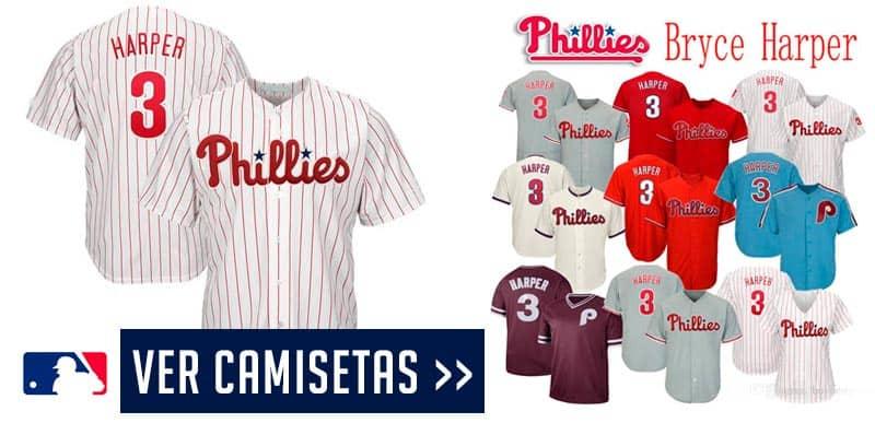Camiseta de béisbo de Bryce Harper de los Philadelphia Phillies