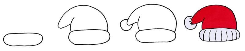 Christmas hat doodle