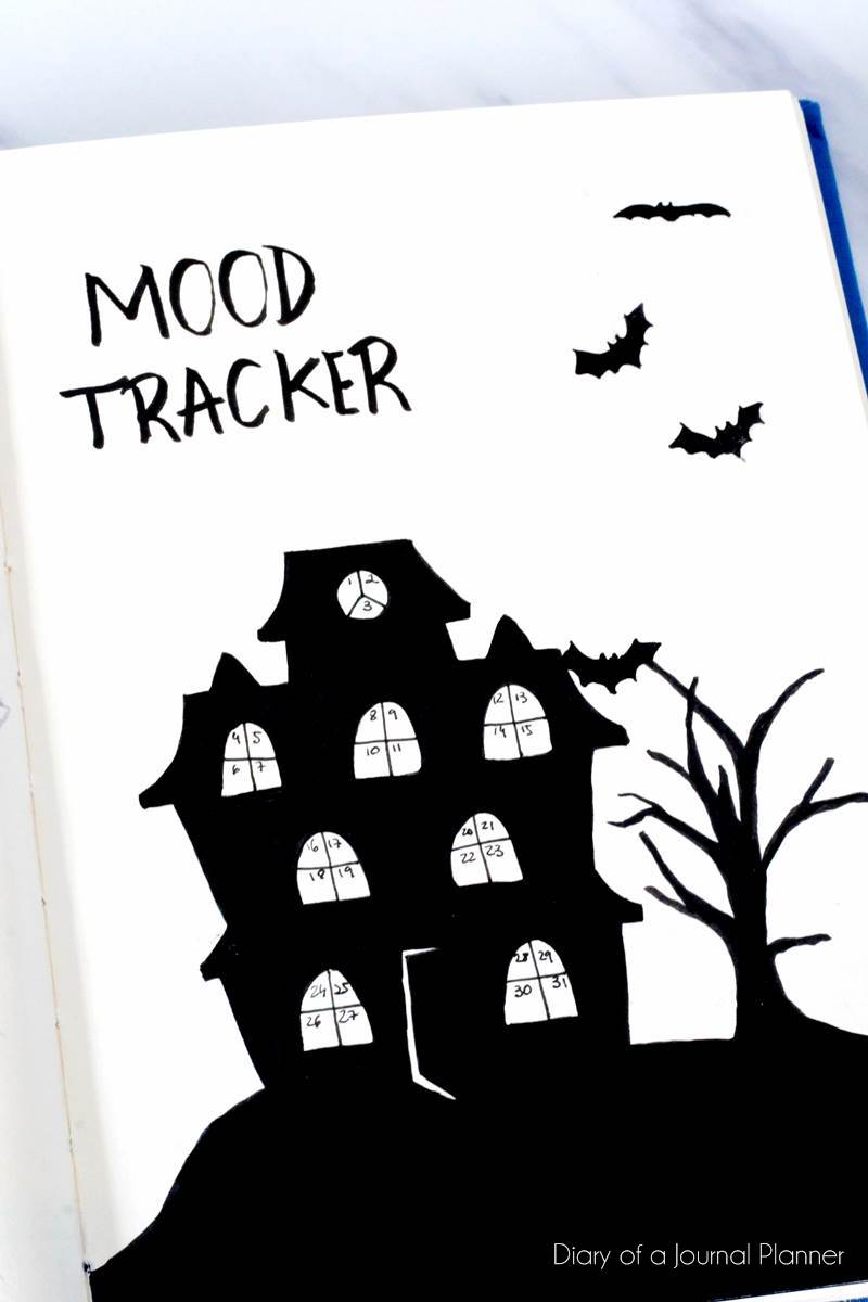 Halloween mood tracker for october