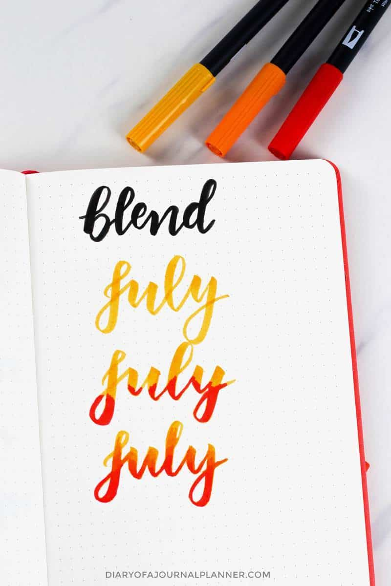 blending brush lettering