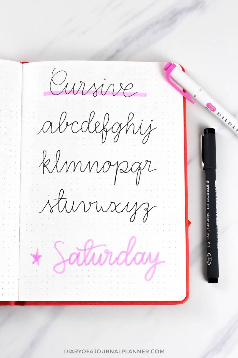 cursive journaling fonts handwriting