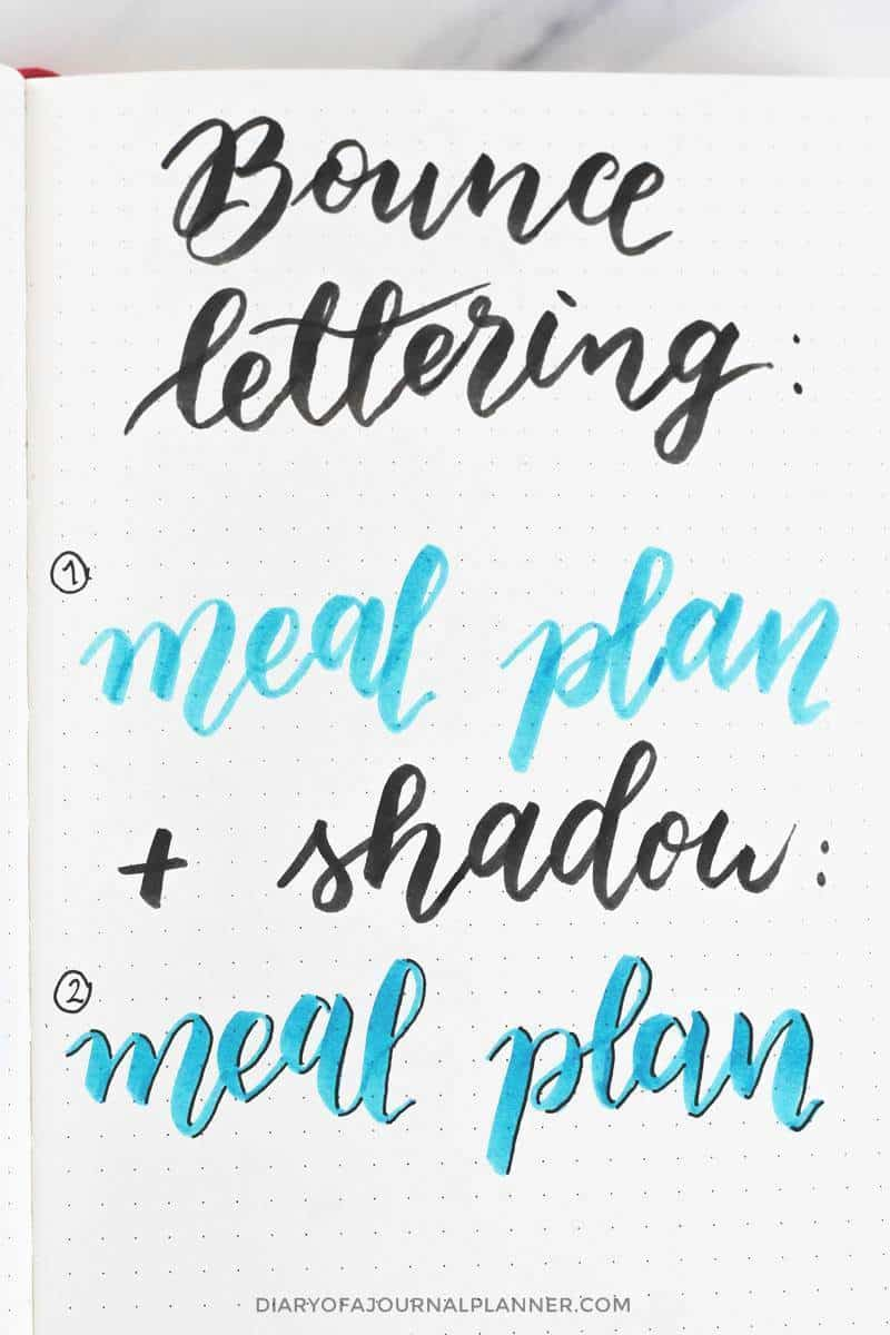 shading hand lettering