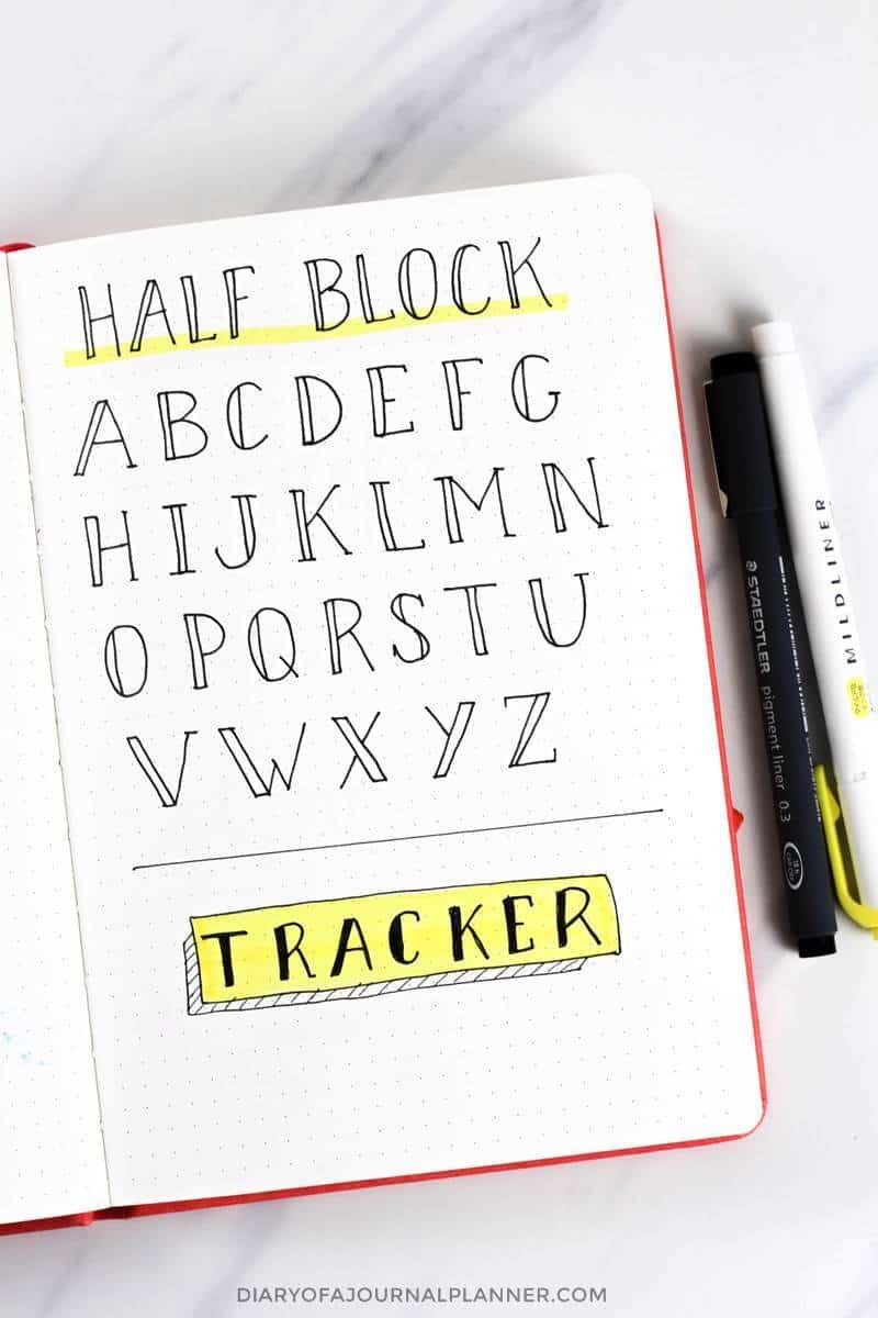 faux block font