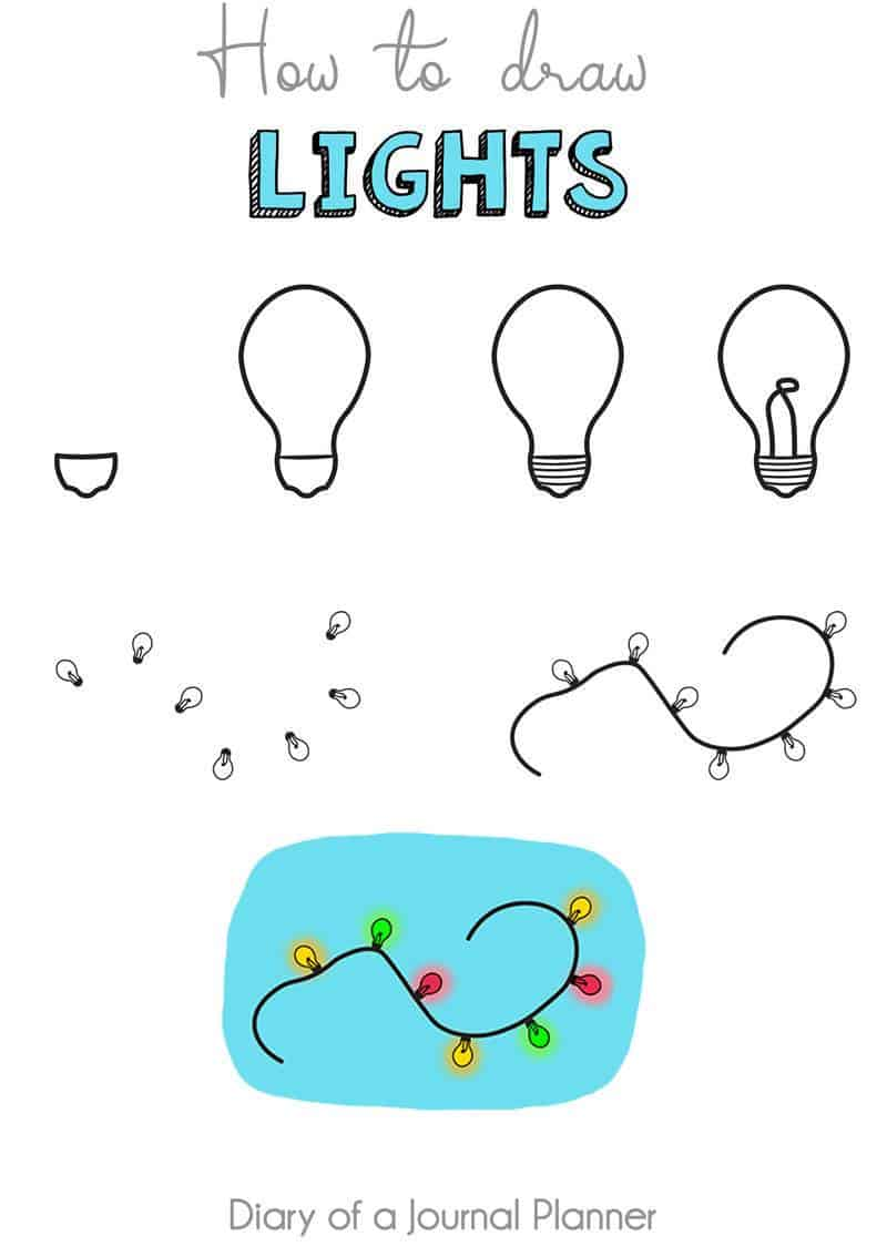 how to draw lights