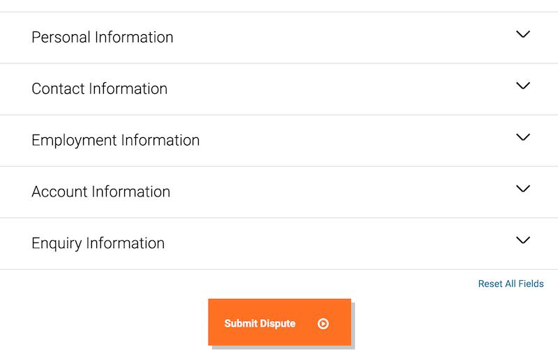 Step4 Dispute Form