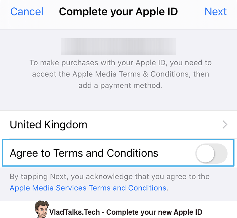 Complete your new Apple ID