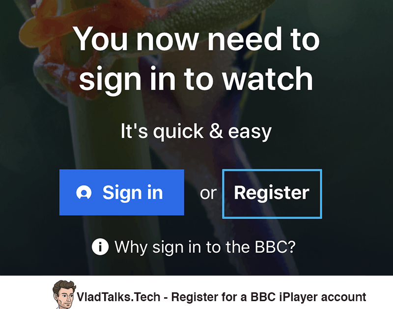 How to register for a BBC iPlayer account