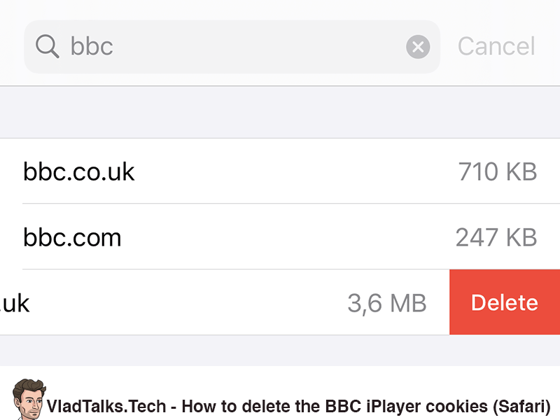 How to delete all BBC iPlayer cookies on Safari for iOS