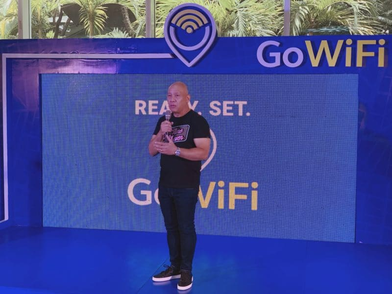 Globe President and CEO, Ernest Cu - GoWiFi - Araneta Center