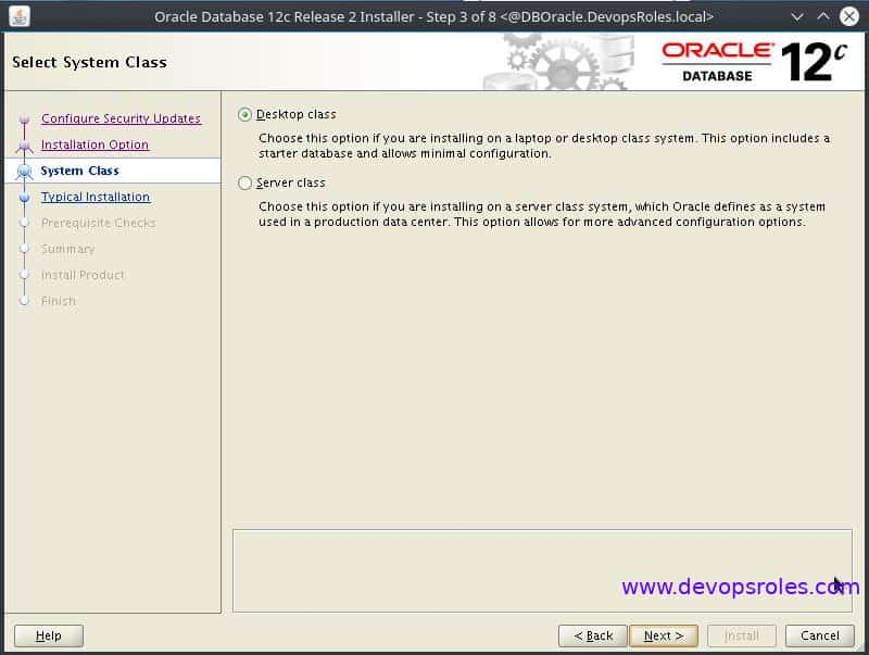 Install Oracle Database 12c on Centos 7 3