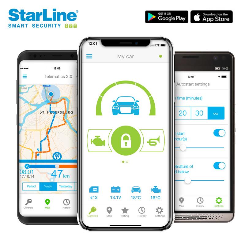 Starline Alarmanlage Smartphone App