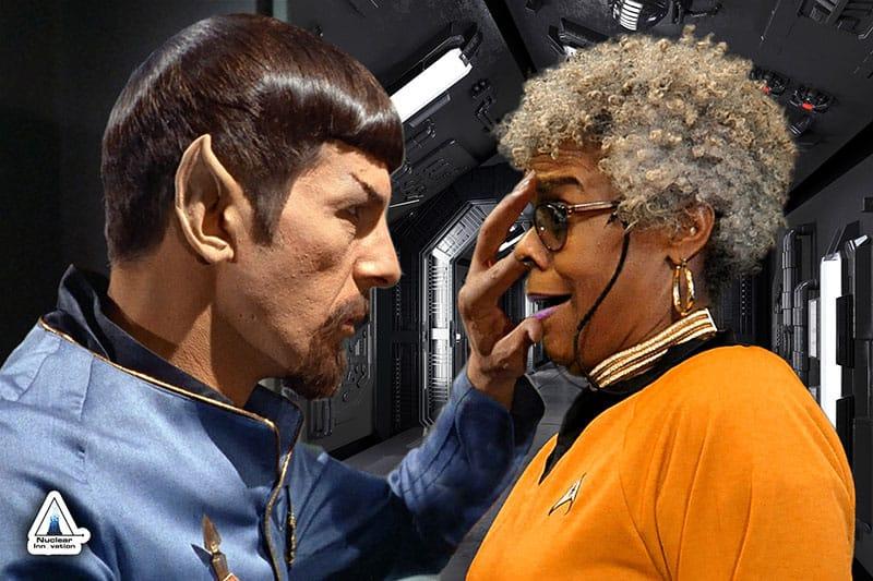 Dallas greenscreen photo booth Star Trek Mind Meld