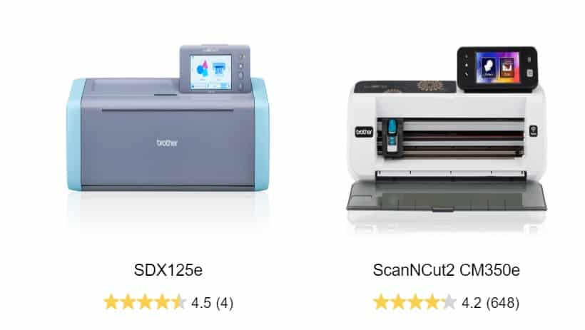 The SDX125e Scan N Cut and CM350e Scan N Cut in the post How to choose a Scan N Cut to buy.
