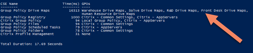 Group Policy Drive Maps extension duration