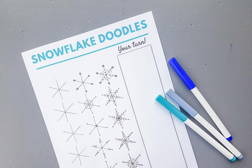 Learn how to draw a snowflake with these amazing step by step tutorials
