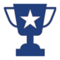 trophy icon for coed adult dodgeball league austin tx
