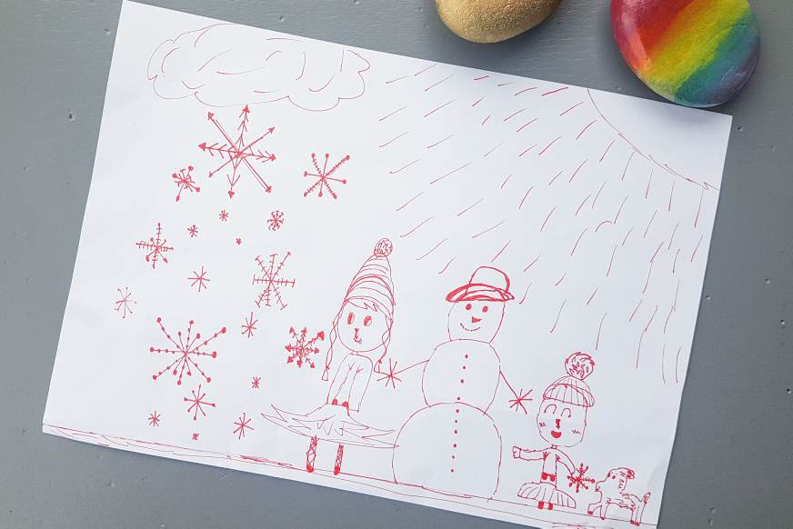 easy snowflake doodles step by step tutorial