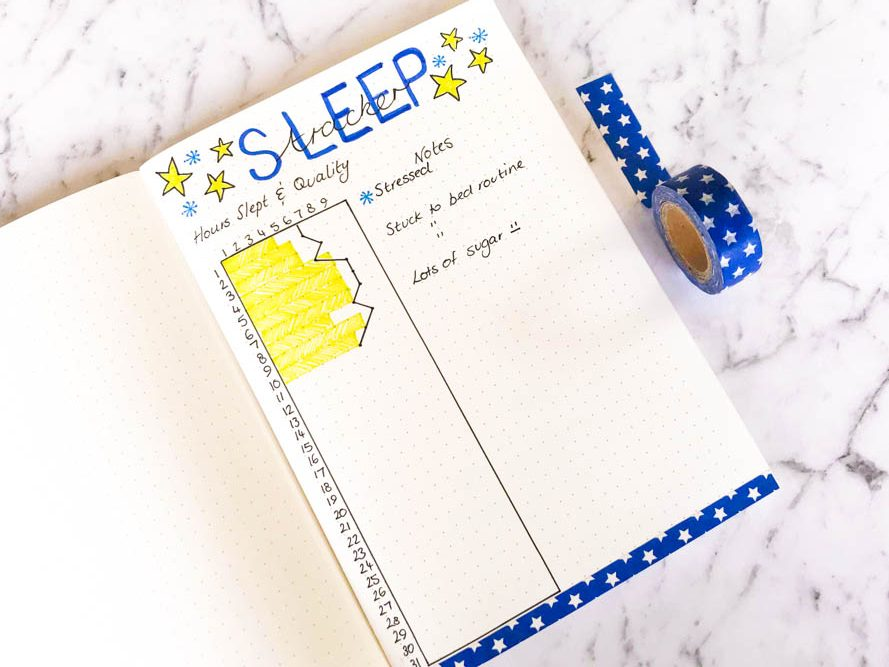 Tracking Your Sleep Habits with a bujo sleep log