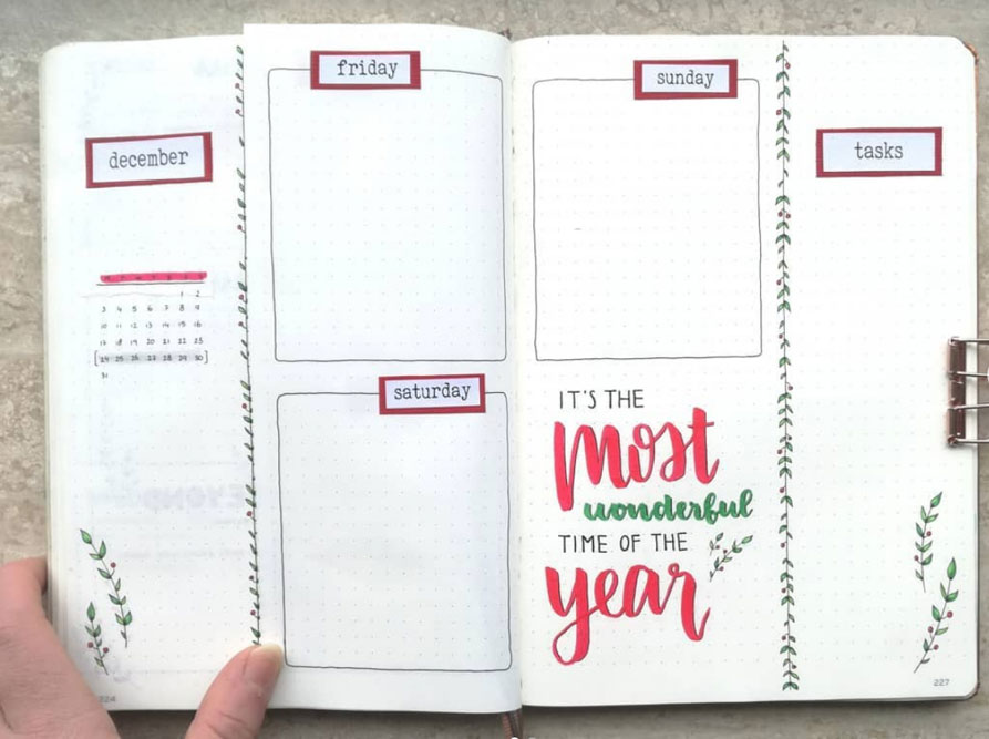 Minimalist December Spread
