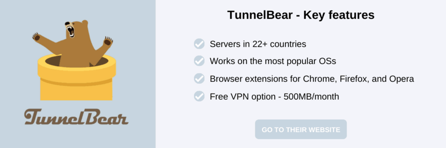 TunnelBear Black Friday VPN deals and a short list of key features
