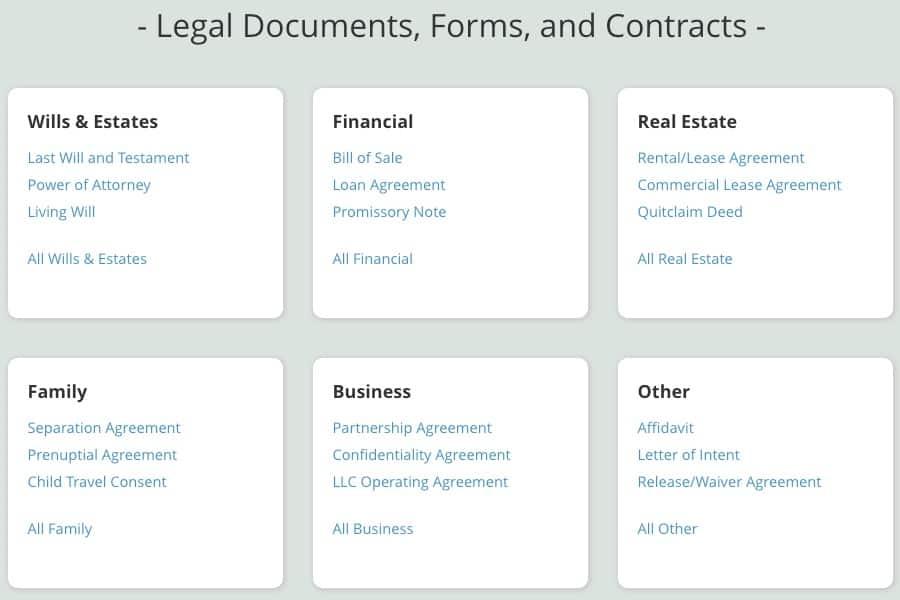legal documents online