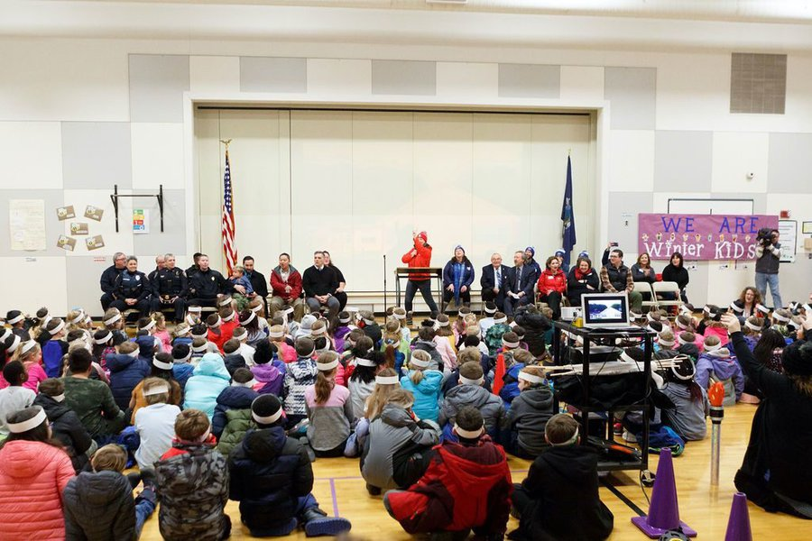 WinterKids Winter Games 2019 Opening Ceremony at Canal School 017