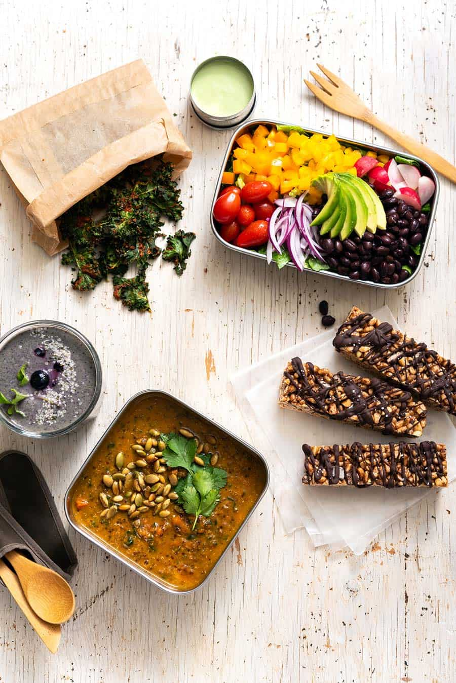 Menu 3 Group Shot from Vegan Yack Attack's Plant-Based Meal Prep by Jackie Sobon